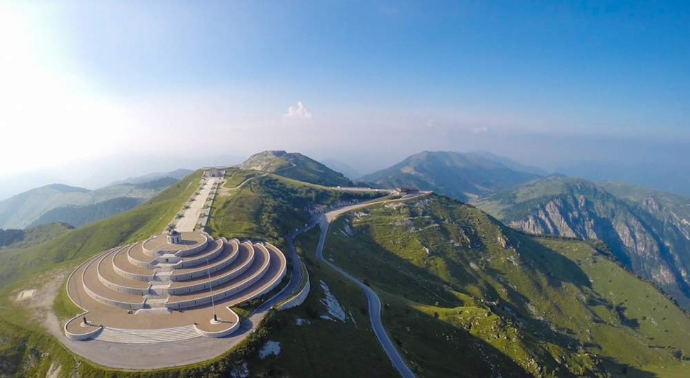 Monte Grappa (aerial view)