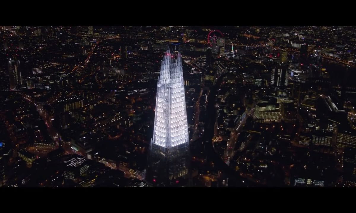 The Shard illuminate