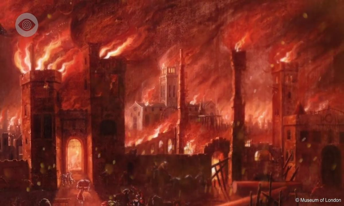 Who really started The Great Fire of London?